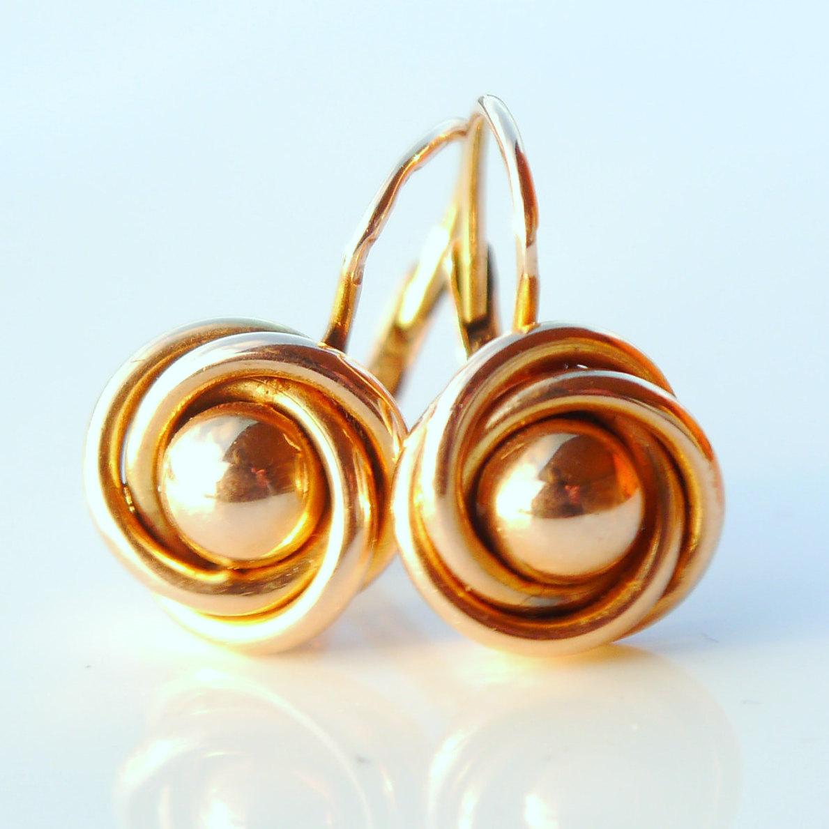 14K Russian Rose Gold Earrings