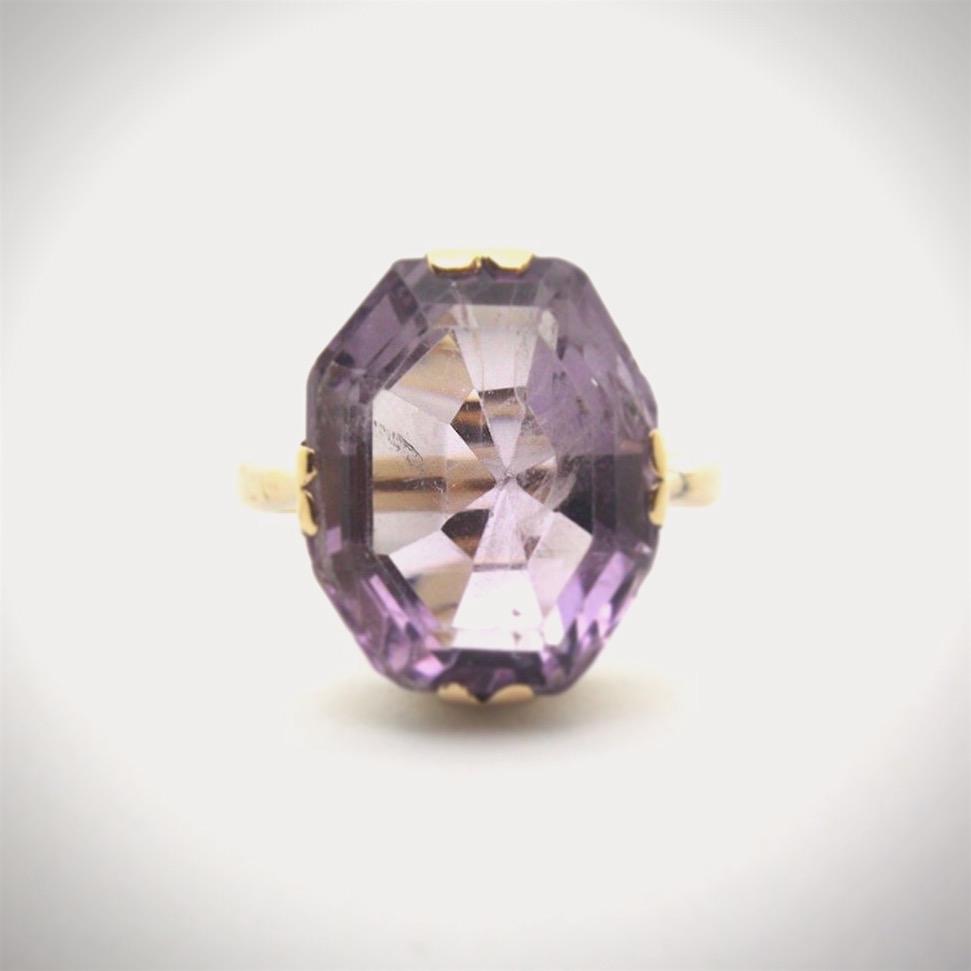 9K Rose Gold & Amethyst Cocktail Ring