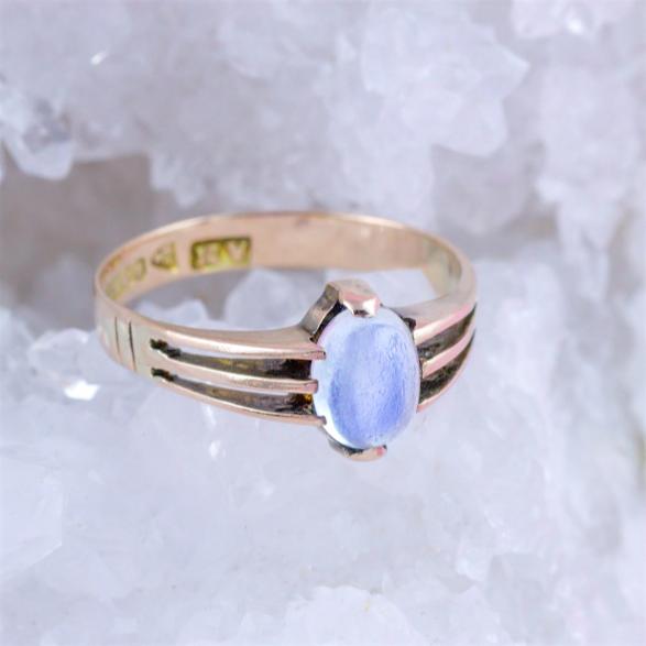 9K Yellow Gold & Moonstone Ring