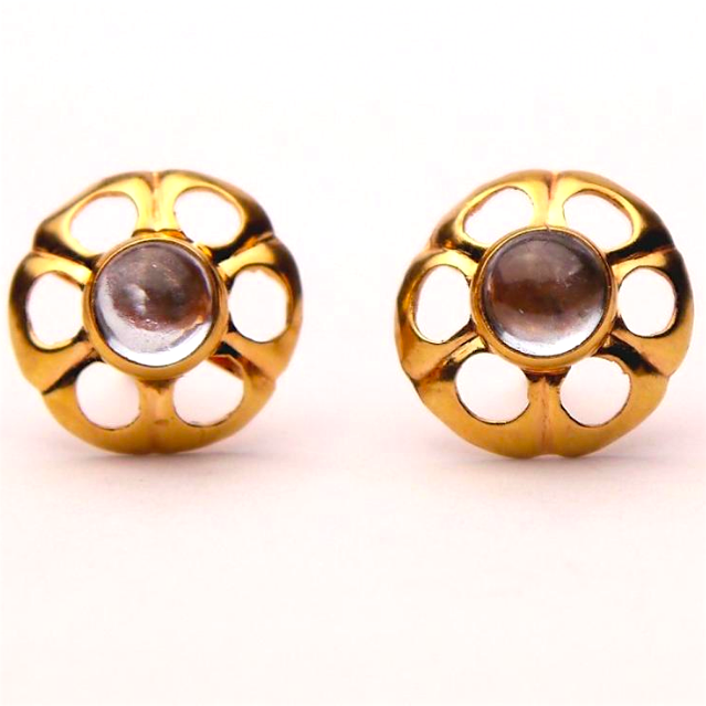 18K Yellow Gold & Spinel Studs