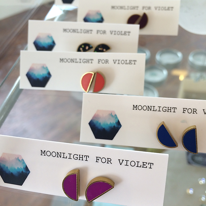 Brass & Enamel Studs by Moonlight for Violet