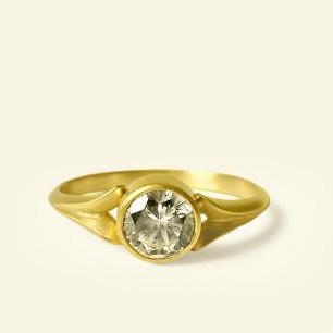 14K Yellow Gold & Diamond Engagement Ring by Carla Caruso