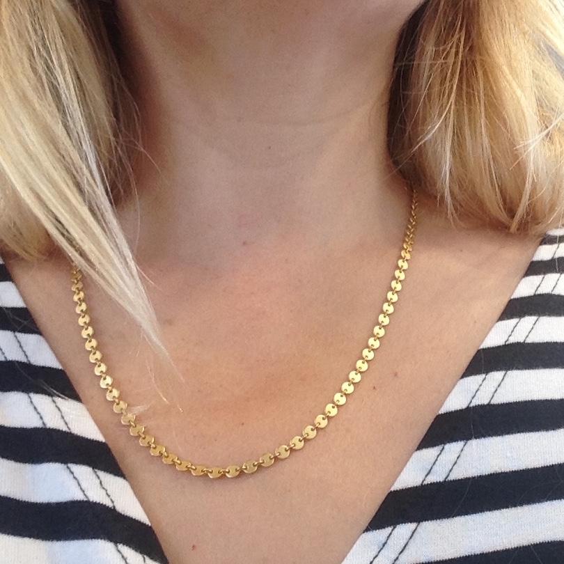 Gold Vermeil Disc Necklace