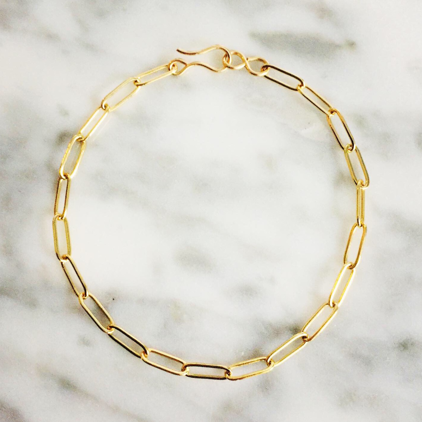 Long Link Gold Filled Bracelet